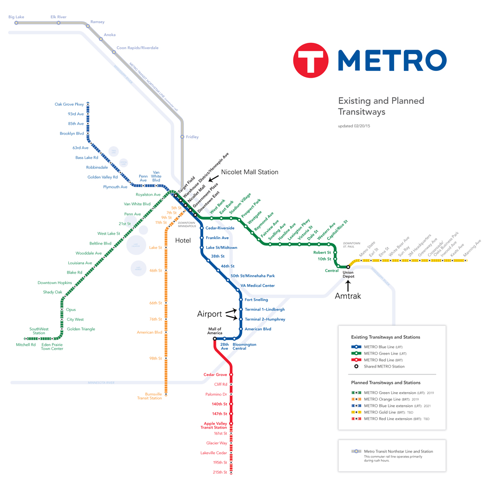 Minneapolis Metro Map
