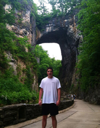 Joe at the Natural Bridge in Virginia