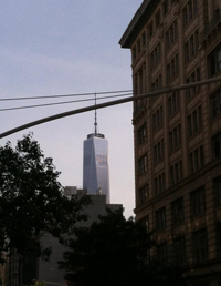 Oh hey Freedom Tower, what's up? I can see you from my building!