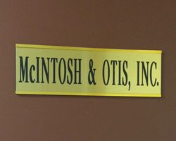McIntosh & Otis, Inc. sign