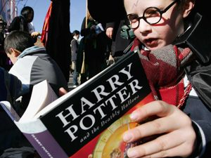 Child Reads Harry Potter