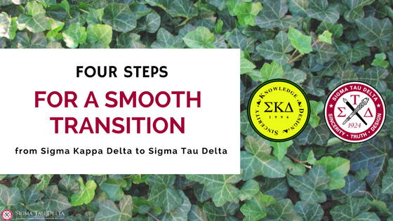 Transition to Sigma Tau Delta