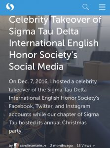 Sigma Takeover on Storify
