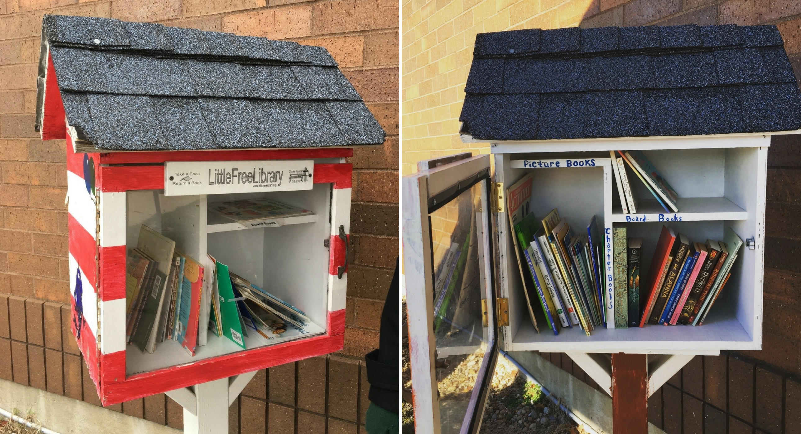 Little Free Library-before and after