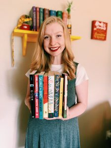 MMorse holding coming-of-age books