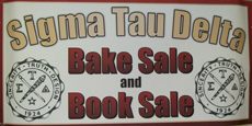 NIU's XI Delta Chapter Bake and Book Sale Sign