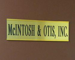 McIntosh & Otis, Inc. sign